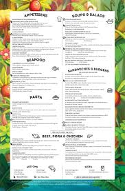 rainforest cafe menus