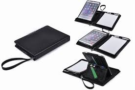 executive leather portfolio with kickstand holder for ipad air air 2 9 7 inch ipad pro