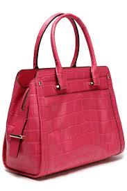 COACH - Red Croc-effect Leather Shoulder Bag - Lyst. View fullscreen