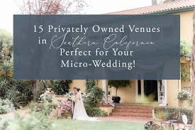 15 privately owned venues in socal