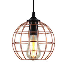 h m s remaining artiss pendant light modern ceiling lighting metal caged wire lamp bar home gold