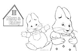 Ruby Coloring Pages Printable Max And Ruby Coloring Pages Max And