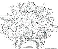 Pictures Of Flowers Coloring Pages Flowers Coloring Pages Free