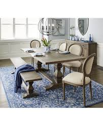 tristan trestle dining table only at macy s dining room tables furniture macy s