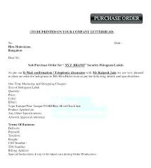 Purchase Order Confirmation Template Castillofamily Co