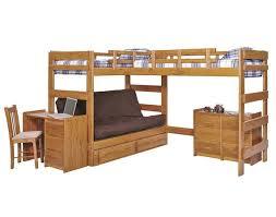 Heartland L-Shaped Futon Triple Bunk Bed (LF6200 - Honey Pine ...