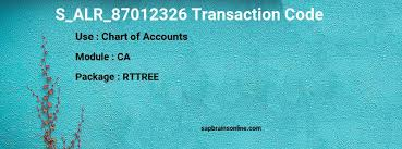 T Code To Display Chart Of Accounts In Sap S_alr_87012326 Sap Tcode For Chart Of Accounts