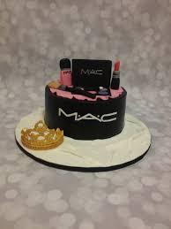 mac makeup 1 tier birthday cake