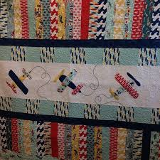 70 best QUILTS - CARS, TRUCKS, TRACTORS, TRAINS, AIRPLANES images ... & Jina designed this quilt out Fly Aweigh (fabric available in June). Quilt  pattern · Airplane QuiltAirplane FabricBaby Boy ... Adamdwight.com