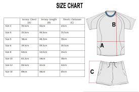 Uniform Size Chart Fast Football Academy