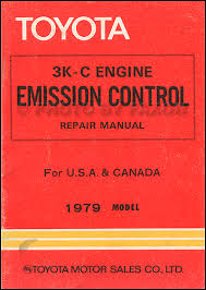 1979 Toyota Pickup and Corolla 3K-C Emission Control Repair Shop ...