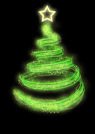 Download Neon christmas tree stock illustration. Image of greetings -  13512271