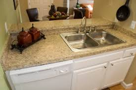 laminate kitchen countertops with white cabinets. Attractive Two-level Granite-style Countertop Complements Distinctive White Cabinets. Laminate Kitchen Countertops With Cabinets A