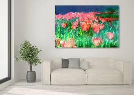 >red tulips canvas art print really cool floral patterns red tulips canvas art print