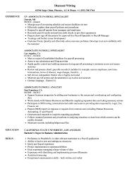 Payroll Resume Samples Resume Online Builder