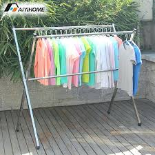 outside clothes drying rack outdoor clothes laundry hanger duty movable laundry steel no installation clothes hanger