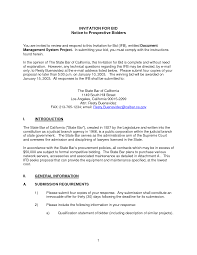 Construction Proposal Letter Invitation To Bid Form Insaat Mcpgroup Co