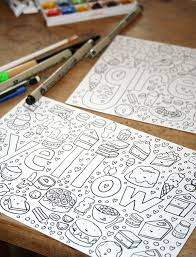 Small Picture Make Your Own Coloring Book FREE Tutorial