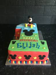 Mickey Mouse 1st Birthday Boy Cake First Birthday Cake Boy Mickey