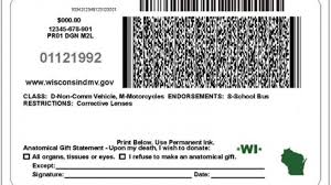 Side A Of Driver's License com Wisconsin Back Madison