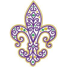 Mardi Gras Designs Fancy Filigree Fleur De Lis Mardi Gras Embroidery Design