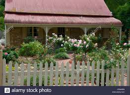 Small Picture Cottage and rose garden in Yankalilla South Australia Stock Photo