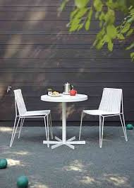 above a small round cafe style dining is powder coated in white measures 28 inches in diameter and stays put with a spoke like base the penelope table