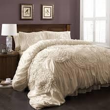 ivory queen comforter set.  Queen Amazoncom Lush Decor Serena 3 Piece Comforter Set FullQueen Ivory  Home U0026 Kitchen Intended Ivory Queen Set Amazoncom