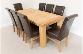 Oak Chairs For Kitchen Table Solid Oak Dining Table With 8 Chairs Ugooder