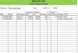 Free Mileage Forms Excel Mileage Calculator