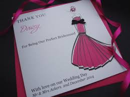 chic thank you bridesmaid card handmade cards pink posh chic thank you bridesmaid card