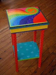 colorful painted furniture. tables am designs funky painted furniturecolorful colorful furniture