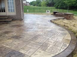 stamped concrete patio with fireplace. Stamped Concrete Patio Loveland Ohio Sealing With Fireplace D