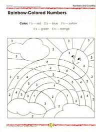 colors of the rainbow worksheet. practising colours and numbers colors of the rainbow worksheet s