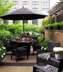 image black wicker outdoor furniture. Black Wicker Outdoor Patio Furniture With Umbrella For Small Ideas Image