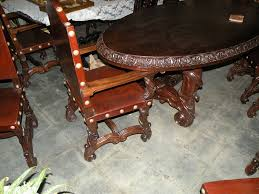 after the table landed in canoga park olinda and lance applied an antique wax process to the table making it look a lot older than it is