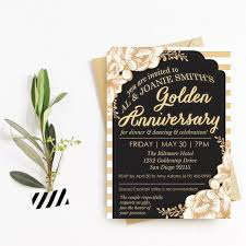 50th Anniversary Party Invitations Golden 50th Anniversary Party Invitation 50th Anniversary Celebration Invite Customized And Personalized Digital File