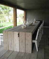 rustic wooden outdoor furniture. Love This Table , For Simple Low Care All Weather Big Table. Rustic Dining TablesOutdoor Tables And ChairsWood Wooden Outdoor Furniture I