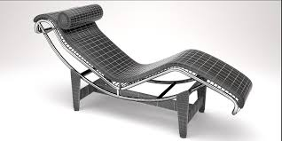 lc4 chaise lounge design by le corbusier 3d model blend 3