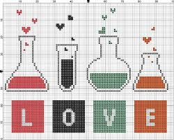 Free Cross Stitch Charts For Beginners Free Cross Stitch Pattern Love Chemistry Easy Downloadable