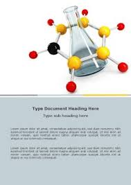 Chemistry Cover Page Designs Organic Chemistry Word Template