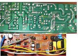 inverter electronic drivers for fluorescent lamps how is the dc picture of the board of an emergency lamp