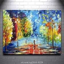 colorful palette knife oil painting on canvas modern flower painting hall decoration painting wall mural acrylic paint in painting calligraphy from home