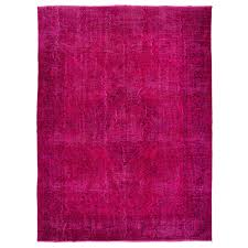 overdyed pink rug vintage oriental in hot fuchsia color for overdyed pink rug
