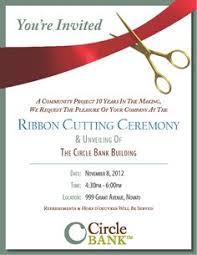 Ribbon Cutting Invitation Design Template