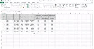 Employee Performance Chart Excel Create Charts And Objects In Excel 2013 Tutorial Simplilearn