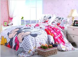 twin size minnie mouse bedding pink black polka dot mickey and mouse bedding set twin size bed cover cotton bedspread girls home decor bedclothes single in