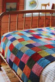 52 best Knit Patterns: Blankets images on Pinterest | Knitting ... & brilliant knitted quilt idea. double moss stitch in a straight scarf, then  all sewn Adamdwight.com