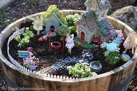 fairy gardens. Fairy Garden In Wooden Barrel (Image Credit: MyFrugalAdventures) Http://myfrugaladventures Gardens