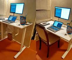 custom standing desk kidney shaped mid. Adjustable Desk Pictures IKEA Hack L Shaped Images Custom Standing Kidney Mid